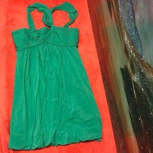 BCBG MAXAZRIA GREEN DRESS